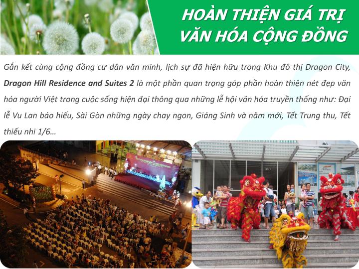 dragon hill 2 tôn vinh giá trị văn hoá cộng đồng