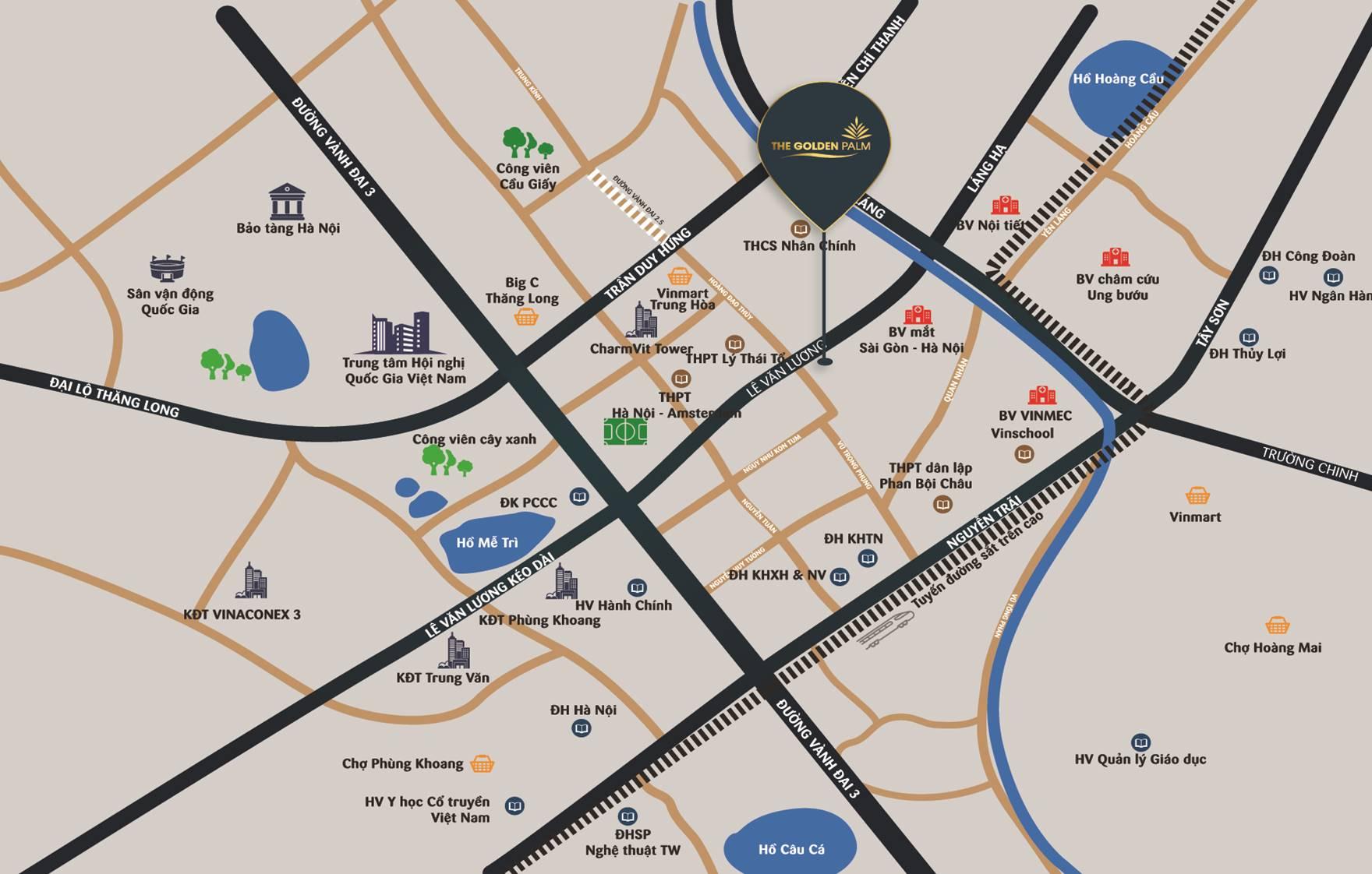 Thông tin dự án The Golden Palm Lê Văn Lương - Bảng giá gốc